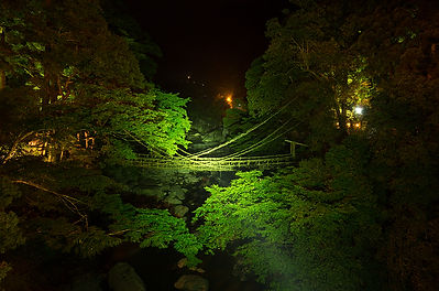 祖谷のかづら橋(ライティング前)