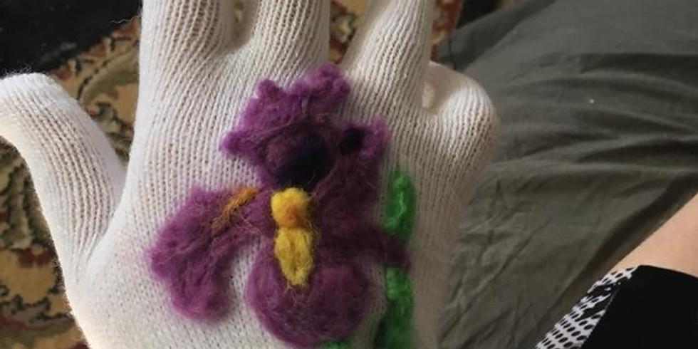 Needle felted Gloves