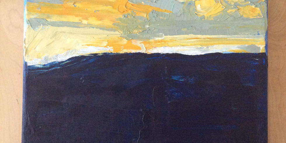 Painting: dramatic light and dark