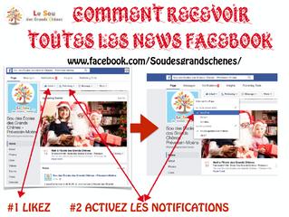 Facebook : Devenez Fan du Sou des Grands Chênes