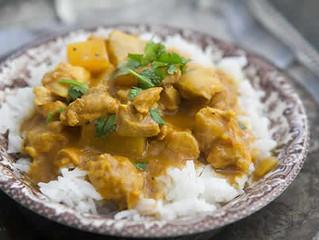 Commander en ligne un délicieux plat de  poulet curry coco préparé par notre super chef cuisto