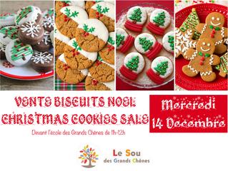 Vente de Biscuits de Noël