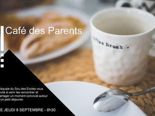 Rentrée 2016 : Le Café des Parents