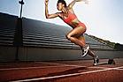 Sportlerin rennt