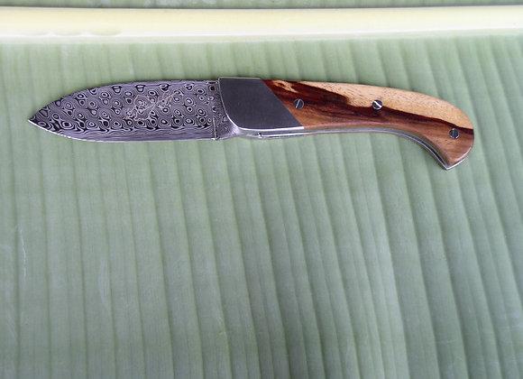 Couteau de Guyane - Moutouchi Montagne et Damas Rose