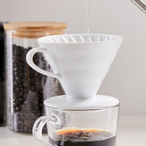 Hario V60 Coffee Dripper 02 | Seramik | Beyaz