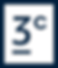 3 Cores Roastery - Logo Short Dark Blue.