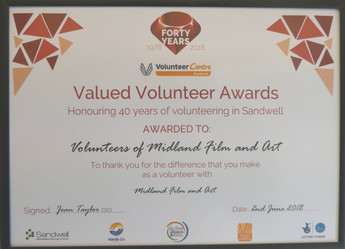 MFAA presented volunteers award
