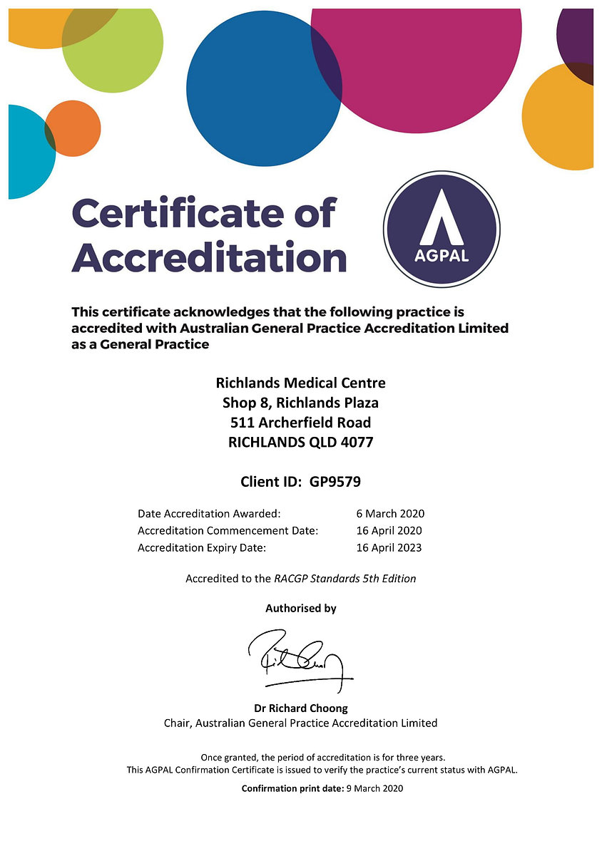 2020 - 2023 Certificate of Accreditation