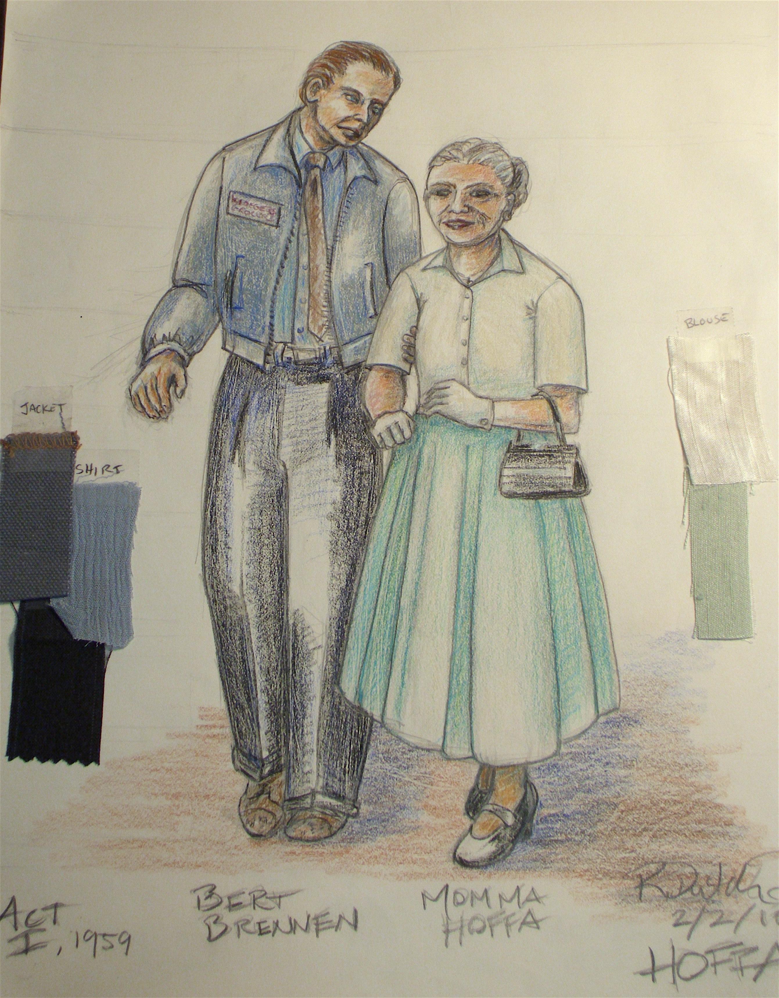 Bert Brennan & Mama Hoffa, 1959