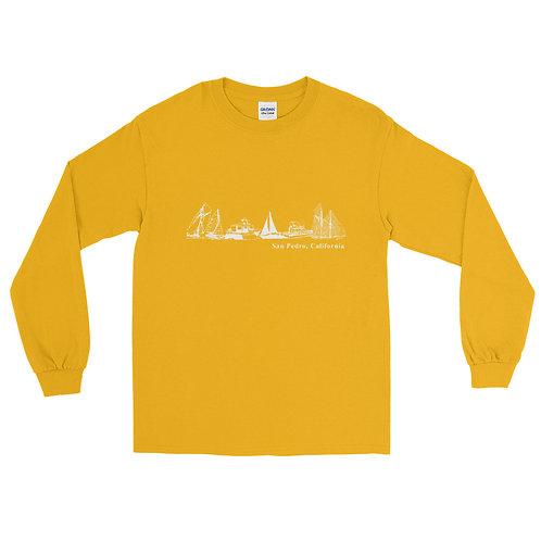 San Pedro CA. Yachting Men's Long Sleeve Shirt