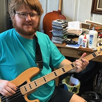 Jeremy Young at His Bass Lesson Today Wi
