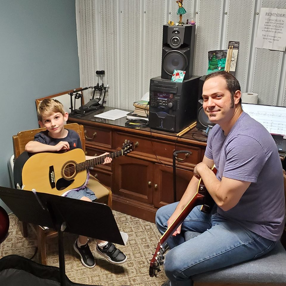 Colton Nash At His Guitar Lesson Today W
