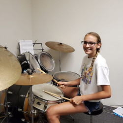 Lynnzee Loyd At Her Drum Lesson Today Wi