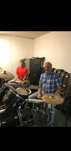 Justin Holmes At His Drum Lesson Today.j