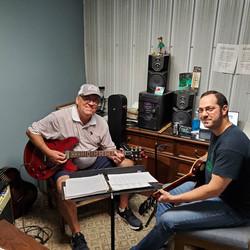 Student Roger Stewart at His Guitar Less