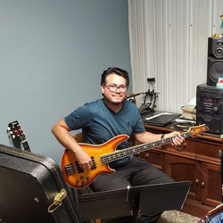 Norberto Torres at His Bass Lesson Today