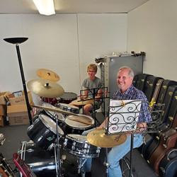 Aaron Sanders At His Drum Lesson.jpg