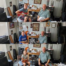 Kelly ,Evy, & Asa Hayes at Music Lessons