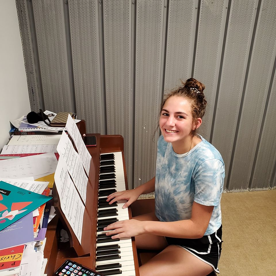 Tessa Buckelow at Her Piano Lessons with