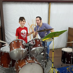 Kody Ledlow At His Drum Lesson Today wit