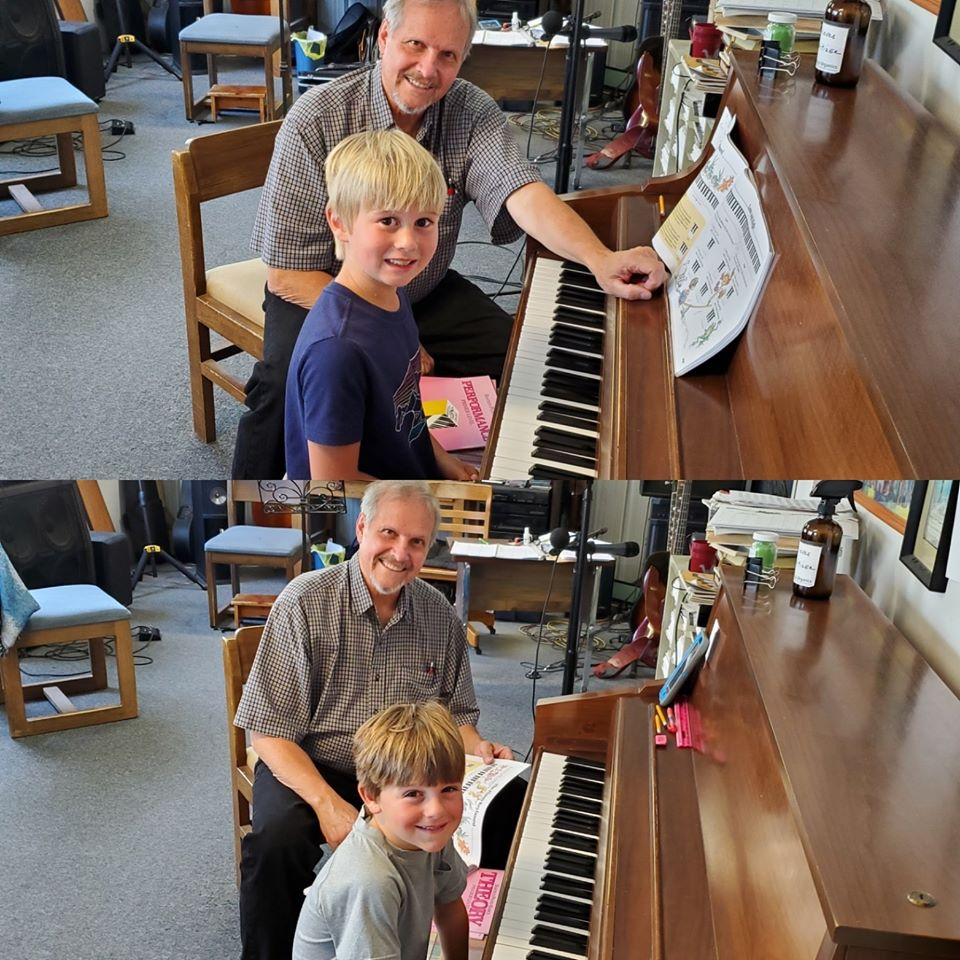 Finn & Ian Williamson At Music Lessons T