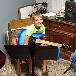 Owen Robinson At His Guitar Lesson Today