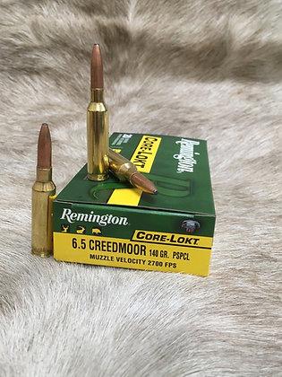 Remington  6.5creedmoor 140gr core lokt