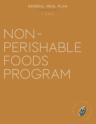 Non-Perishable Foods Meal Plan