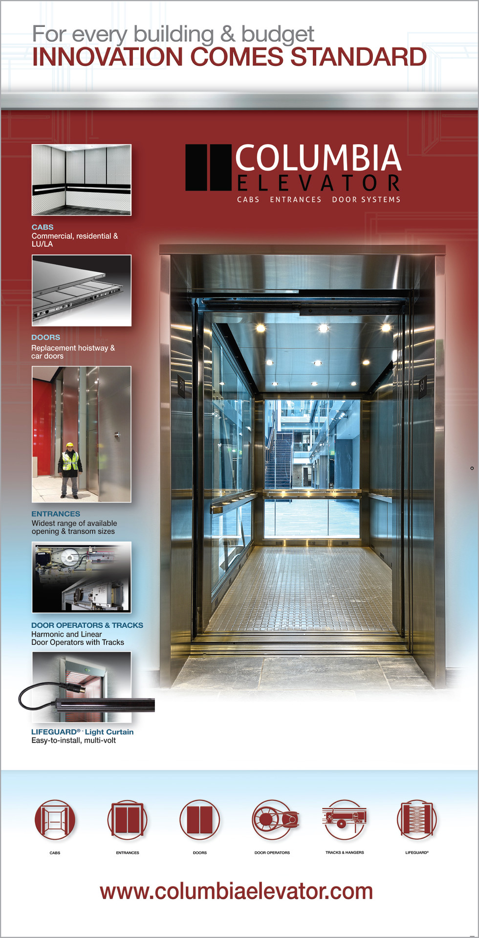 Columbia Elevator 72inch Pull Up Banner