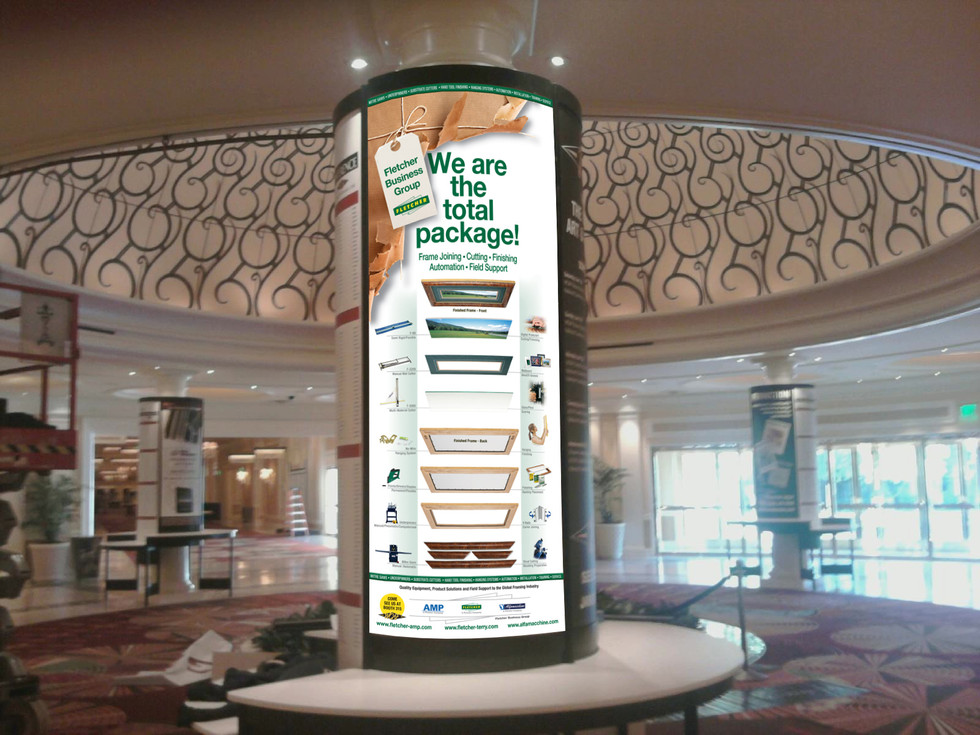 Fletcher-Terry Company, CT - Trade Show -  Display Wrap (pictured at the actual trade show)