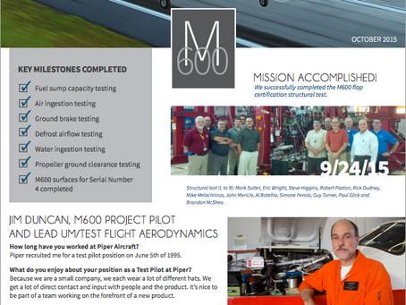 Final Approach: Oct M600 Update
