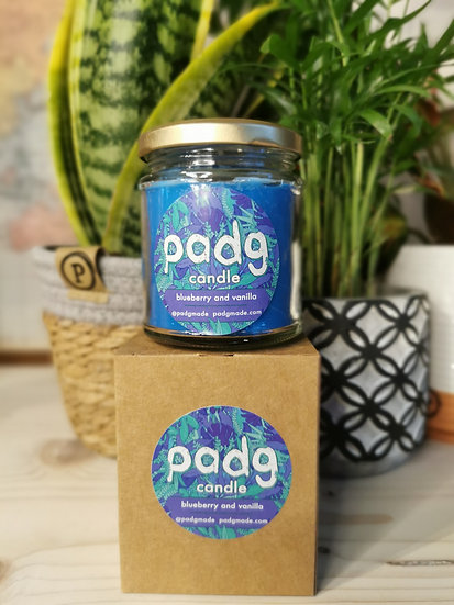 Blueberry and Vanilla - Blue padg candle