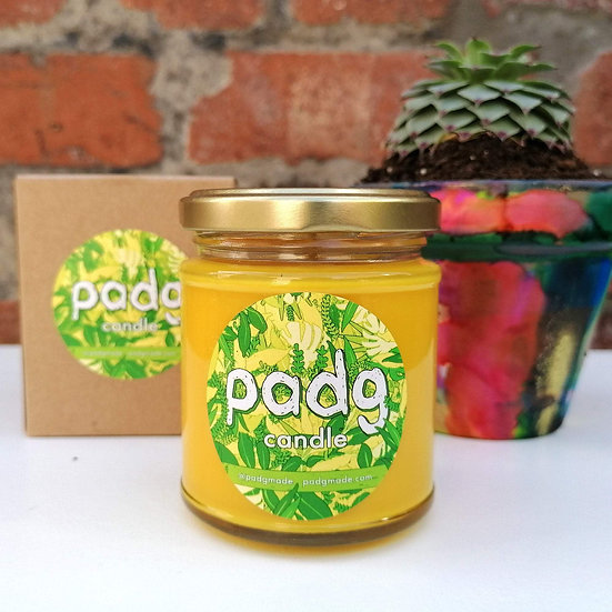 Lemongrass and Ginger - Yellow padg candle