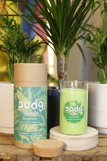 Lime and Mango - Large cork padg candle