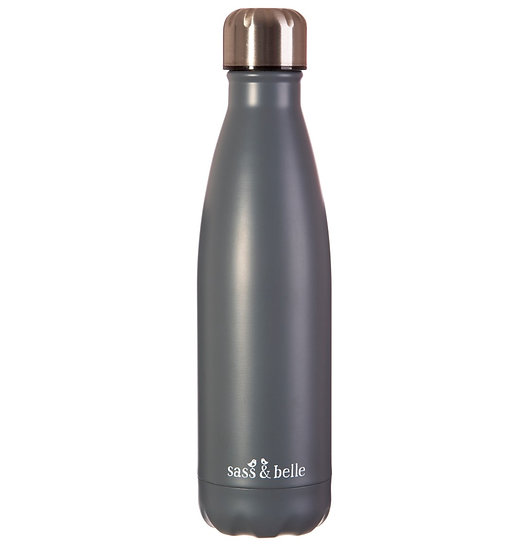 GREY STAINLESS STEEL BOTTLE