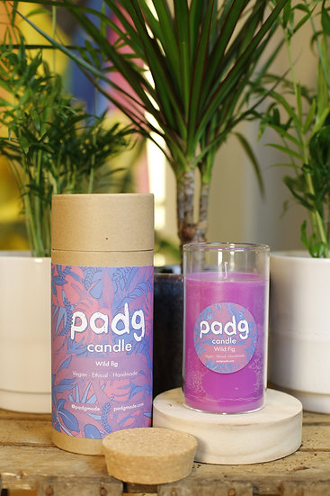 Wild Fig - Large cork padg candle