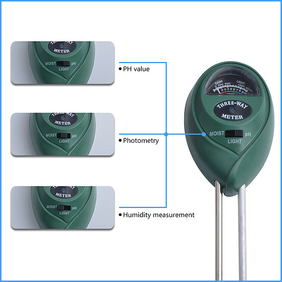 3-Way plant meter (Light, Moisture and Humidity)