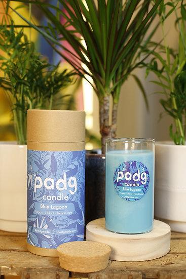 Blue Lagoon - Large cork padg candle