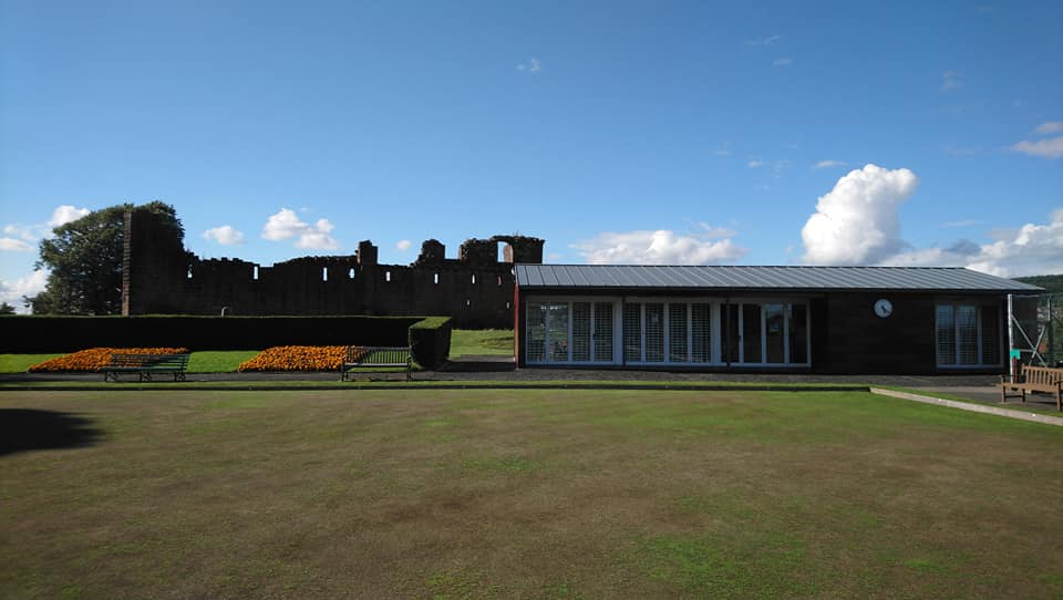 pavillion with Penrith Castle in the bac