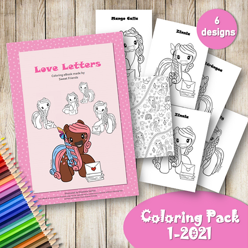 Love Letters - Coloring Pack (1-2021)