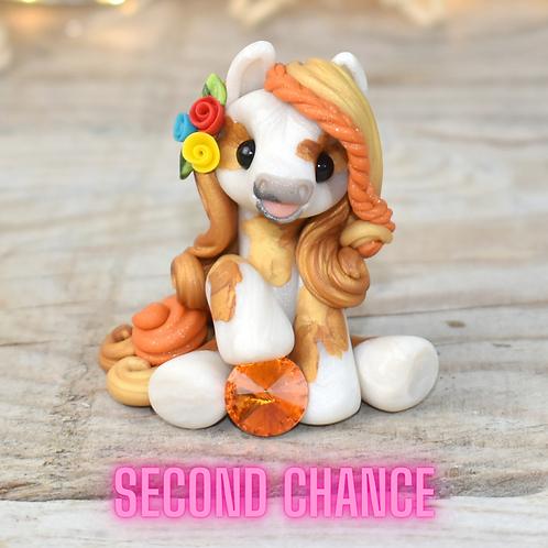 November - (Second Chance) - Handmade polymer clay pony - tiny