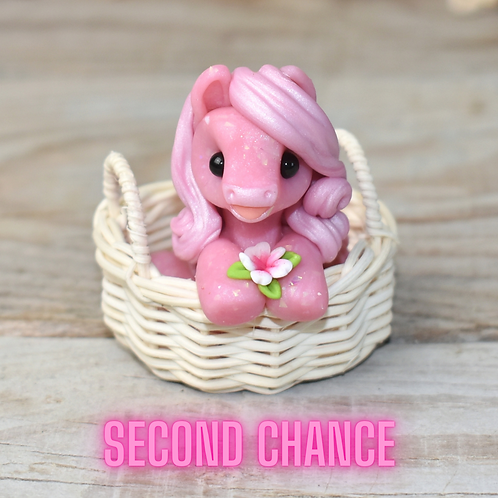 Lifting Dreams - (Second Chance) - Handmade polymer clay pony - tiny size