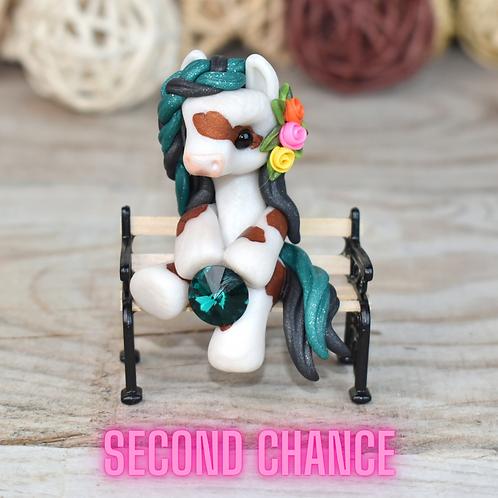 May - (Second Chance) - Handmade polymer clay pony - tiny