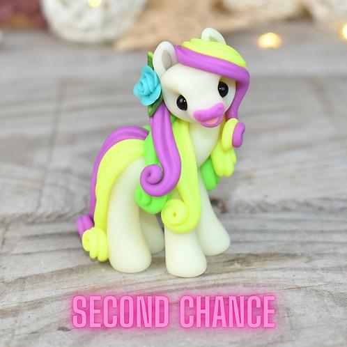 Purple GITD - (Second Chance) - Handmade polymer clay pony