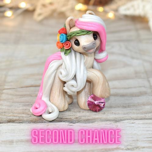 October - (Second Chance) - Handmade polymer clay pony - tiny