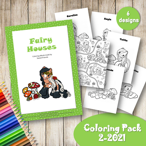 Fairy Houses - Coloring Pack (2-2021)