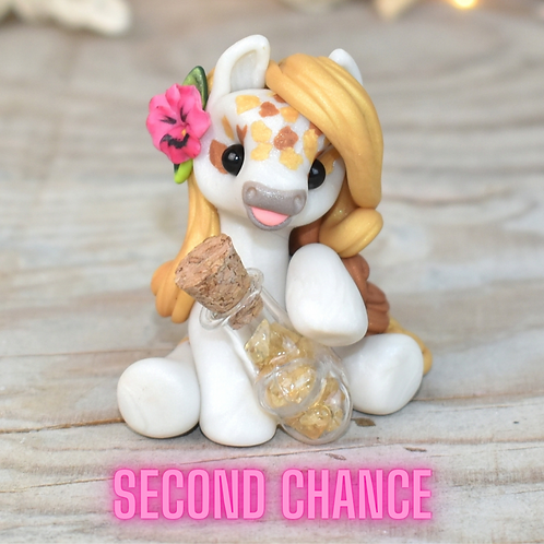 Citrine - (Second Chance) - Handmade polymer clay pony - tiny