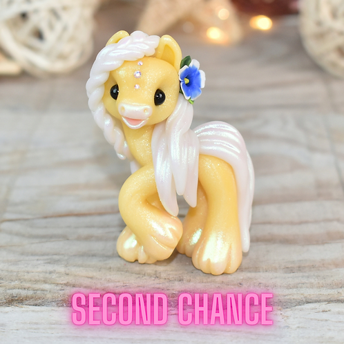 Enthusiastic - (Second Chance) - Handmade polymer clay pony