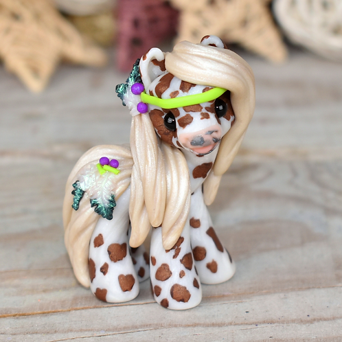 Wise Thoughts - Handmade polymer clay tiny pony